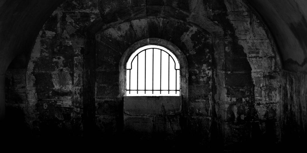 Monochrome Prison Cell
